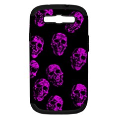 Purple Skulls  Samsung Galaxy S Iii Hardshell Case (pc+silicone) by ImpressiveMoments