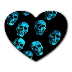 Skulls Blue Heart Mousepads by ImpressiveMoments
