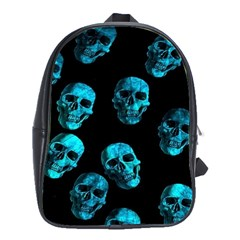 Skulls Blue School Bags(large)  by ImpressiveMoments