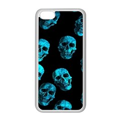 Skulls Blue Apple Iphone 5c Seamless Case (white) by ImpressiveMoments
