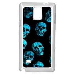 Skulls Blue Samsung Galaxy Note 4 Case (White) by ImpressiveMoments