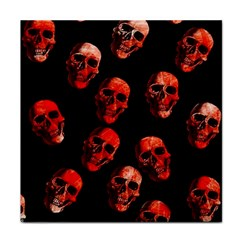Skulls Red Tile Coasters by ImpressiveMoments