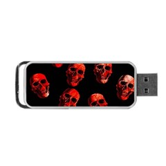 Skulls Red Portable Usb Flash (two Sides)