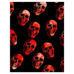 Skulls Red Drawstring Bag (large)