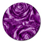 Gorgeous Roses,purple  Round Mousepads