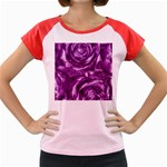 Gorgeous Roses,purple  Women s Cap Sleeve T-Shirt