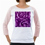 Gorgeous Roses,purple  Girly Raglans