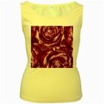 Gorgeous Roses,purple  Women s Yellow Tank Tops
