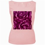 Gorgeous Roses,purple  Women s Pink Tank Tops