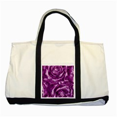 Gorgeous Roses,purple  Two Tone Tote Bag