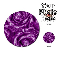 Gorgeous Roses,purple  Multi Purpose Cards (round)  by MoreColorsinLife
