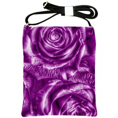 Gorgeous Roses,purple  Shoulder Sling Bags