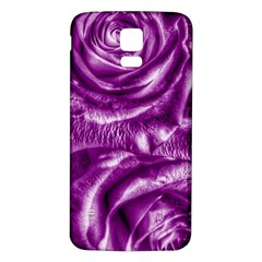 Gorgeous Roses,purple  Samsung Galaxy S5 Back Case (white)