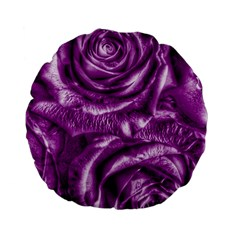 Gorgeous Roses,purple  Standard 15  Premium Flano Round Cushions