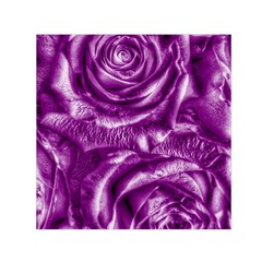 Gorgeous Roses,purple  Small Satin Scarf (square)