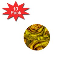 Gorgeous Roses, Yellow  1  Mini Buttons (10 Pack)