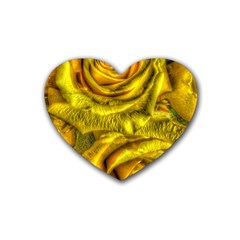 Gorgeous Roses, Yellow  Heart Coaster (4 Pack)  by MoreColorsinLife
