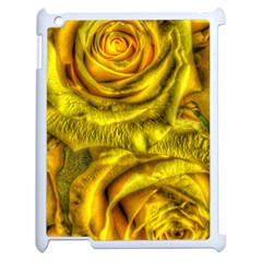 Gorgeous Roses, Yellow  Apple Ipad 2 Case (white)
