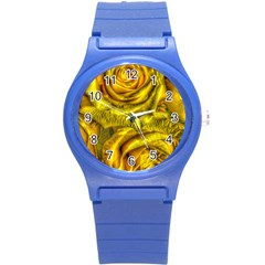 Gorgeous Roses, Yellow  Round Plastic Sport Watch (s)