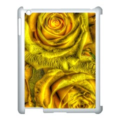 Gorgeous Roses, Yellow  Apple Ipad 3/4 Case (white)