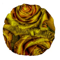 Gorgeous Roses, Yellow  Large 18  Premium Round Cushions