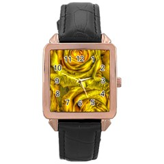 Gorgeous Roses, Yellow  Rose Gold Watches
