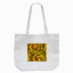 Gorgeous Roses, Yellow  Tote Bag (white)