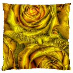 Gorgeous Roses, Yellow  Standard Flano Cushion Cases (two Sides)