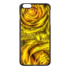 Gorgeous Roses, Yellow  Apple Iphone 6 Plus Black Enamel Case