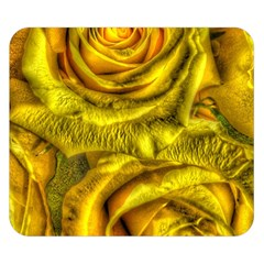 Gorgeous Roses, Yellow  Double Sided Flano Blanket (small)  by MoreColorsinLife