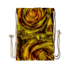 Gorgeous Roses, Yellow  Drawstring Bag (small)