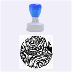 Gorgeous Roses, Aqua Rubber Round Stamps (medium)