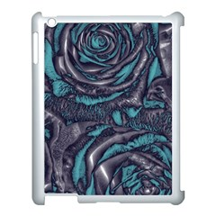 Gorgeous Roses, Aqua Apple Ipad 3/4 Case (white) by MoreColorsinLife
