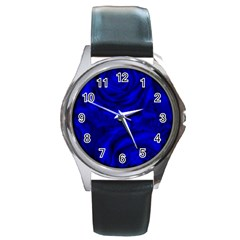 Gorgeous Roses,deep Blue Round Metal Watches