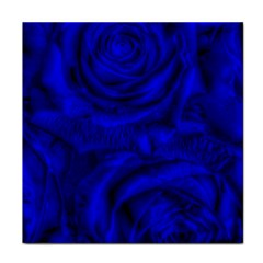 Gorgeous Roses,deep Blue Tile Coasters