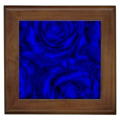 Gorgeous Roses,deep Blue Framed Tiles