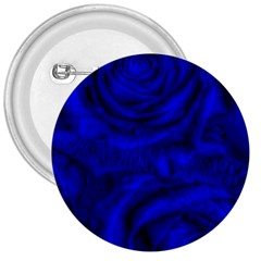 Gorgeous Roses,deep Blue 3  Buttons