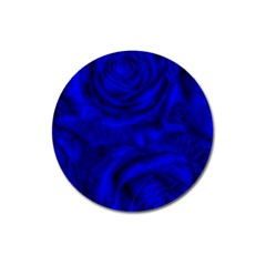 Gorgeous Roses,deep Blue Magnet 3  (round)