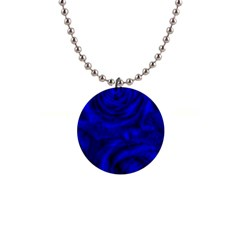Gorgeous Roses,deep Blue Button Necklaces