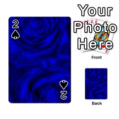 Gorgeous Roses,deep Blue Playing Cards 54 Designs