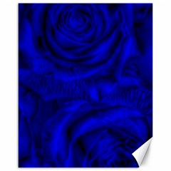 Gorgeous Roses,deep Blue Canvas 16  X 20