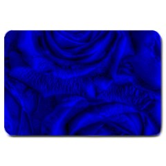 Gorgeous Roses,deep Blue Large Doormat