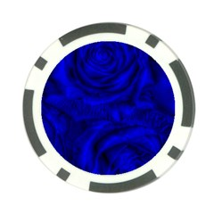 Gorgeous Roses,deep Blue Poker Chip Card Guards