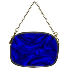 Gorgeous Roses,deep Blue Chain Purses (two Sides)