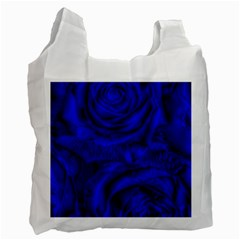 Gorgeous Roses,deep Blue Recycle Bag (two Side)
