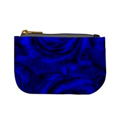 Gorgeous Roses,deep Blue Mini Coin Purses