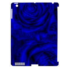 Gorgeous Roses,deep Blue Apple Ipad 3/4 Hardshell Case (compatible With Smart Cover)