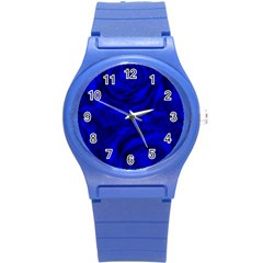 Gorgeous Roses,deep Blue Round Plastic Sport Watch (s) by MoreColorsinLife