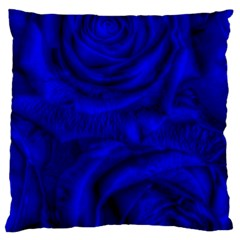 Gorgeous Roses,deep Blue Large Cushion Cases (one Side)