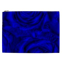 Gorgeous Roses,deep Blue Cosmetic Bag (xxl)